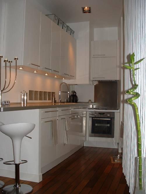 Cuisine mobalpa dans un petit appartement esprit loft for Cuisine pour petit appartement